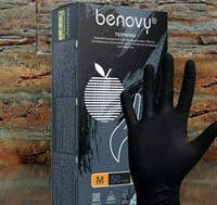 Перчатки нитриловые черные 100 штук (50 пар)