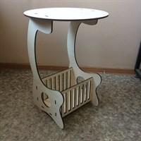 прикроватный столик из фанеры